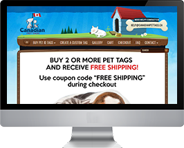 Canadian Pet Tags Homepage